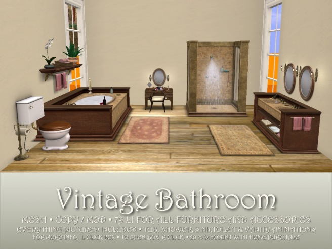VINTAGE BATHROOM BOX
